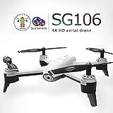 Mitlfuny RC Quadrocopter Drohne,SG106 2,4 GHz 4CH WiFi FPV Optischer Fluss 4K HD Dual Kamera RC Quadcopter Drohne