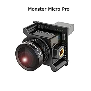 Foxeer Monster Micro Pro 1.8mm 16:9 1200TVL PAL/NTSC Switchable WDR Low Latency FPV Camera Built-in OSD DC 5-40V Bracket Camera Black