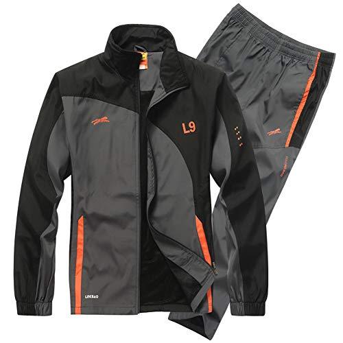 ZWYY Herren Trainingsanzug orange Orange L Basketball-fleece-sweatshirt