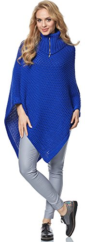 Merry Style Poncho per Donna MSSE0020 Fiordaliso