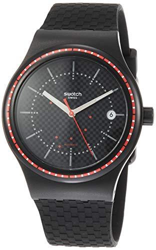 swatch orologio analogico automatico uomo con cinturino in silicone sutb406