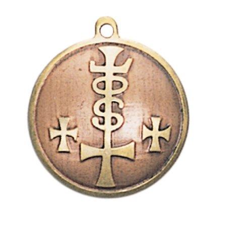 24-Trendshop Mittelalterliches Glücksamulett 8 Anhänger Talisman - Kraft, Stärke, Reichtum und Wohlstand