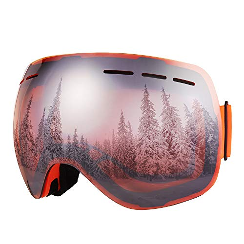 Bfull Skibrille Für Damen und Herren Kids brillenträger Skibrille 100{7e0d2d300405d31dcdc0a3e79f1d192d934c51cf04fea0a47e266d7ed81708e9} OTG UV400 Anti-Fog UV-Schutz Skibrillen Snowboard Skibrille Schutz Ski Gogglesvv