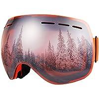 Bfull Skibrille Für Damen und Herren Kids brillenträger Skibrille 100% OTG UV400 Anti-Fog UV-Schutz Skibrillen Snowboard Skibrille Schutz Ski Gogglesvv
