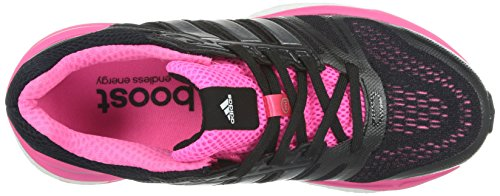 adidas Supernova Sequence Boost 7, Chaussures de running femme Noir (Core Black/Carbon Metallic/Neon Pink)