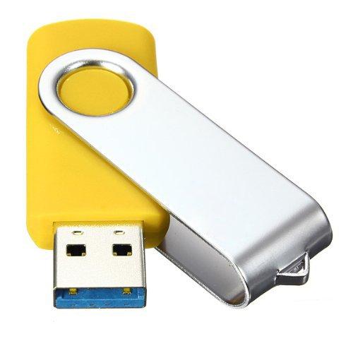 SODIAL(R)USB 3.0 Memory Stick faltbares Flash Laufwerk Memory Stick Speicher mit drehbarem Clip 32GB – Gelb - 4