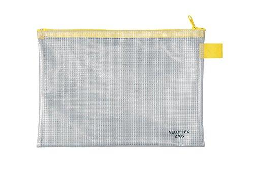 Veloflex 2705000 Reißverschlusstasche A5 Reißverschlussbeutel Dokumententasche PVC gewebeverstärkt transparent