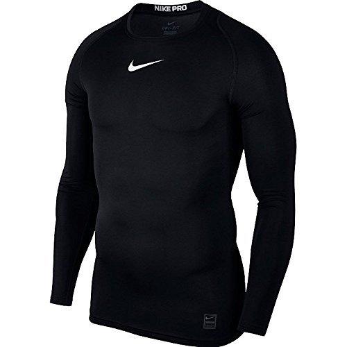 Nike Herren Longsleeve Pro Compression, Black/White/White, M Pro Tshirt