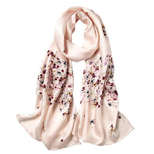 Herbst Und Winter Chinesischer Stil Seidenschal Satin Seide Langen Schal,3,175Cm*52Cm -