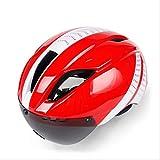 HHQ Fahrrad Reithelm im Freien integriert mit Schutzbrille Erwachsenen Mountainbike Sportgeräte (Farbe : B)