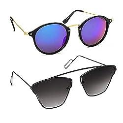 Elligator Stylish Brow-Bar Sunglasses Combos pack of 2