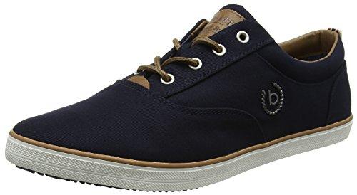Bugatti Herren F48136 Sneaker, Blau (Navy), 48 EU (Low Top Schuhe)