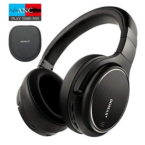 Noise Cancelling Kopfhörer bis 48 Std. Abspielzeit, Bluetooth Kopfhörer DOMAX M1, Noise Cancelling Kopfhoerer Komfortable, HiFi Stereo Over Ear Kopfhörer thumbnail