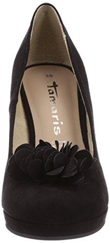 Tamaris 22432, Chaussures à talons - Avant du pieds couvert femme Noir - Noir
