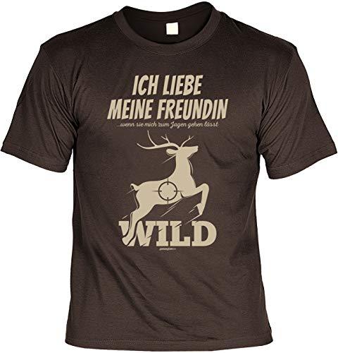 Lustiges Fun T-Shirt Jäger - Ich Liebe Meine Freundin Wenn Sie Mich zu Jagen Gehen lässt - Jäger Förster Geburtstag
