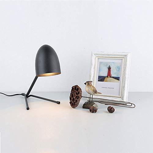 FZYUAN E27 Nachttischlampe, LED Tischlampe Zum Schutz Der Kinderaugen, Schlafzimmer Wohnzimmer Studio Bar Cafe Dekoration Tischlampen,Black - Black Button Studio
