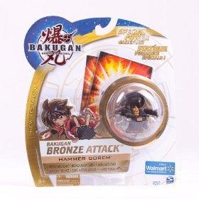 Bakugan New Vestroia Bronze Attack Hammer Gorem - Brand New Rare