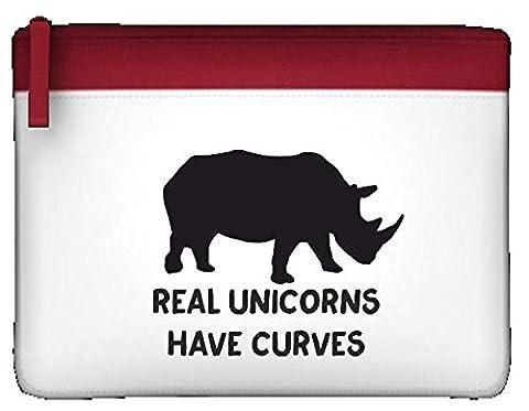 véritable Licornes ont courbes Corps image Positive Rhino Funny Trousse plate taille unique rouge