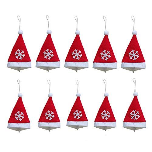 Los accesorios de fiesta maravillosos, pueden combinarse con muchos más proyectos creativos de manualidades, adecuados para decorar una mesa o un árbol de Navidad, se pueden aplicar como tapa de la botella de vino de Navidad, soporte de vajilla de cu...