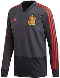 Adidas FEF TR Top Camiseta de Entrenamiento Federación Española de Fútbol, Hombre, Gris (