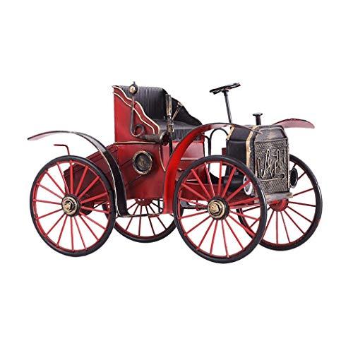 LYN Geschenk Ornament Home Dekorationen Eisen Auto Modell Dekoration Kreative Retro Dekoration Geschenkartikel (Color : RED, Size : 27 * 14.5 * 17CM) -