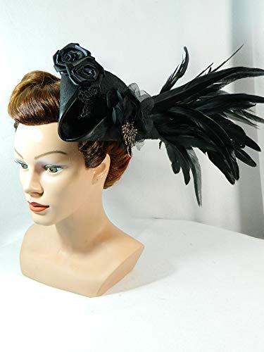 hut historisch Kostüm Headpiece Marie Antoinette Barock Rokoko Fascinator ()