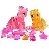 A to Z Einhorn und Pony 12-teiliges Spielset mit 2 Figuren und Zubehör für Kinder Mädchen ab 3 Jahren