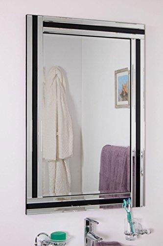 Quality Glass Premium Quality Frameless Decorative Mirror   Mirror Glass For Wall   Mirror For Bathrooms   Mirror In Home   Mirror Decor   Mirror Size : 18 Inch X 24 - B07F15J9SP