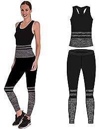 9f22fe5bb15 Bonjour Women's Sportswear Wear/Vest and Crop Top & Leggings (2 Piece Set  Top