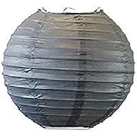 Matissa - Paralume Rotondo di Carta da 10 cm, 15 cm, 15 cm, 15 cm, Colore: Grigio