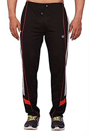 Vimal Men's Cotton Blend Track Pants Black (Small)