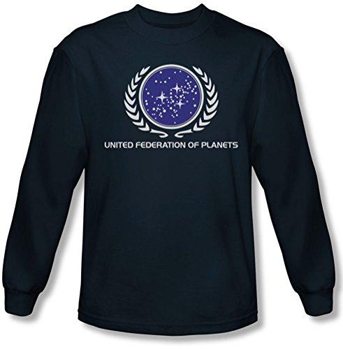 Star Trek - Herren United Federation Logo Langarm-Shirt in Navy Navy
