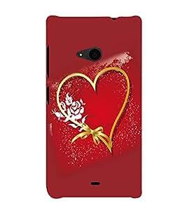 printtech Heart Love Flower Back Case Cover for Nokia Lumia 535::Microsoft Lumia 535