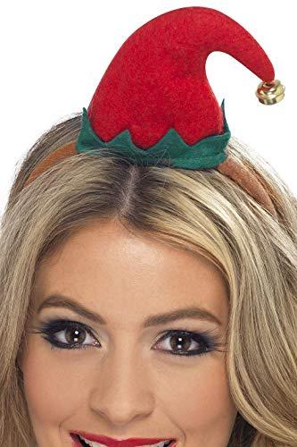 Smiffys Damen Mini Elfen Hut auf Haarreif, One Size, 23450