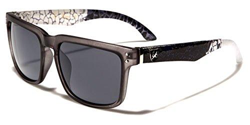 KHAN Herren Sonnenbrille Mehrfarbig SEMI-OPAQUE GREY/WHITE/SMOKE LENSES