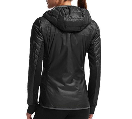 Icebreaker Damen Helix Long Sleeve Zip Hoodie–schwarz/Monsoon, groß Black/Monsoon