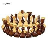 BingWS Schachspiel Magnetisch Hölzerne Schachfiguren Königshöhe 105mm Schachspiel Hochwertiges Standardschachfiguren-Schachspiel für Internationale Wettbewerbe Schach