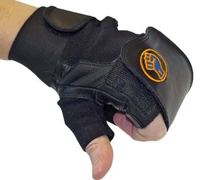 Gripeeze mitaines Sports Gants de formation de poids, Aviron, Sports, Fitness Raquette de Machines, machines et plus–Taille M–Noir–main gauche simple gant
