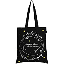 Eono Essentials 100% Cotton, Reusable, Tote Bag Printed Flowers