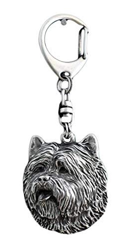 Cairn Terrier, Hund, Silber, Schmuckanhänger, Anhänger, Schlüsselanhänger, Limitierte Edition, Art Dog -