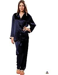 comprare on line 9cc70 6ee04 Amazon.it: Pigiami Donna Seta - Blu / Pigiami e camicie da ...
