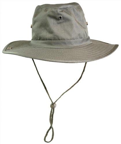 (normani Buschhut (Schlapphut), mit Kinnband zum Hochstellen Farbe Oliv Größe 61)