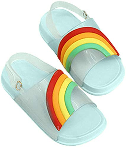 iFANS Kids Slide Sandal Girls Sandals Rainbow Flat Toddler Slippers Beach