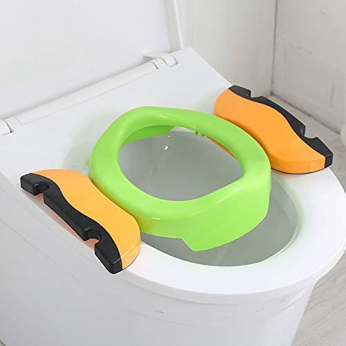 Vasino 2 in 1 da viaggio per bambini, pieghevole, per imparare a usare il vasino, portatile, multifunzione, ecologico.