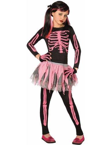 Rosa Skelett Ballett Tutu Halloween Kostüm Karneval Verkleidung Kinder (Halloween Für Tutus)