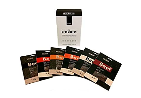 Emballage Assorti De Gourmet Viande De Boeuf Séchée Par The Meat Makers - 6 Saveurs (6 X 40g)