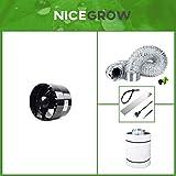 Abluft-Set Growzelt Black Orchid Axial Flo Turbo 135cbm/h Aktivkohlefilter Grow