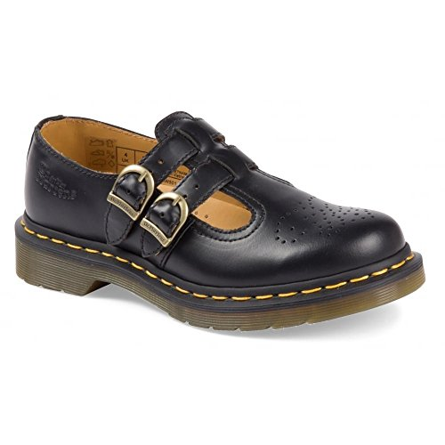 Dr Martens Women's 8065 Mary Jane Buckle Leather Shoe Black-black-3