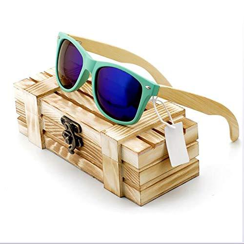CWPYB Walnuss-Holz-Sonnenbrillen, Paar Matte Sonnenbrille polarisierte Linsen Sonnenbrille UV-Schutz Shadow Shadow Wooden Frame Sunshade Mirror für Reise-Fischer Beach (4 Farben),B