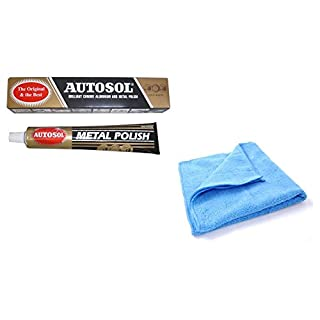 1 x 75ml Tube Solvol Autosol And Microfibre Cloth Chrome Ali & Metal Polish